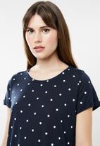 Cotton On - Tina -T-shirt dress - navy & white