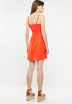 Cotton On - Woven krissy dress - orange