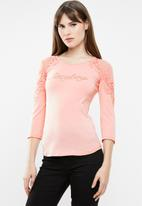 Sissy Boy - Feminine lace up top - pink