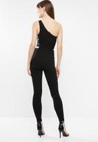 Sissy Boy - Waist elastic jumpsuit - black
