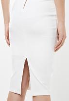 Sissy Boy - Bossy boots midi dress - white
