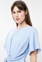 Missguided - Side tie jumpsuit - blue
