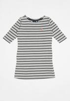 POLO - Girls harper ms striped dress - grey