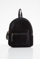 POP CANDY - Velvet backpack - black