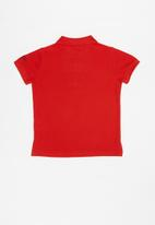 GUESS - Short sleeve guess core polo - red