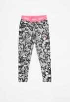 Nike - Nike dri-fit rainbow wash aop leggings - grey & pink