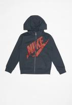 Nike - Nike futura fleece fz hoodie - navy & red