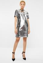 dailyfriday - Sequins mini dress - grey