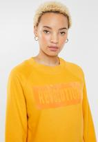 ONLY - Lotta long sleeve o-neck sweat - yellow