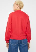 ONLY - Lotta long sleeve o-neck sweat- red