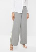 ONLY - Roma wide leg panel pants - grey