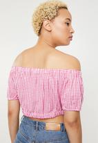 ONLY - Nugg cropped beach top - pink