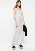 Sissy Boy - Roco linen jumpsuit - black & white
