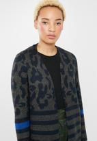 ONLY - New odine longsleeve open cardigan knit - green