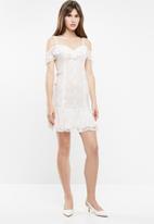 Sissy Boy - Lace ruffled dress - white