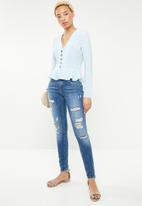 ONLY - Carmen ripped skinny jeans - blue