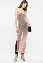 Sissy Boy - Lurex knit longer length top - rose gold