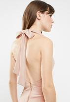 Sissy Boy - Duchess halter neck max- after - pink