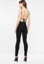 Sissy Boy - Sparkle jumpsuit - black