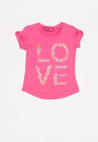 POP CANDY - Infant girls love slogan t-shirt - pink