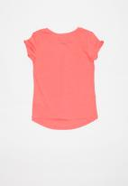 POP CANDY - Girls flower printed love tee - coral