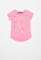 POP CANDY - Girls flower print tee - pink