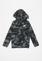 Nike - Nike NSW jersey PO camo hoodie - multi