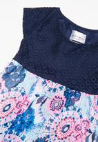 POP CANDY - Girls lace printed dress - navy & pink