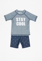 MINOTI - Infants boys stay cool rash set - blue