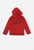 Nike - Nike dri-fit breathe hoodie - red
