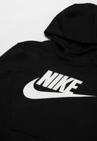 Nike - B nsw po hoodie club flc hbr - black & white