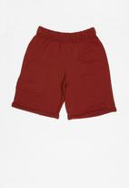 Rebel Republic - Elasticated shorts - burgundy
