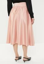 edit - High waist pleated skirt - pink