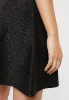 Vero Moda - Multa lurex skirt - black