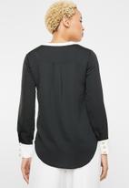 Sissy Boy - Contrast shirt blouse - black & white