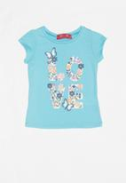 POP CANDY - Infant girls floral T-shirt - blue