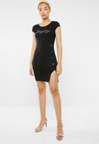 Sissy Boy - One up dress with side button detailing - black