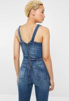 Sissy Boy - Dungaree with front button - blue