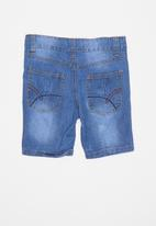 POP CANDY - Boys denim shorts - blue