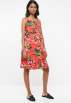 Cherry Melon - Maternity Halterneck dress - multi