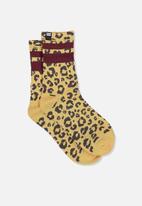 Cotton On - Ribbed crew socks - yellow