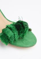 Madison® - Fringe detail block heel - green