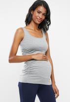 Cherry Melon - Maternity Every day tank top - light grey