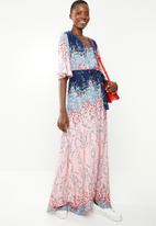 Revenge - Short sleeve maxi dress - pink