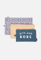 Typo - 3pc travel bag set - multi