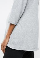 edit Maternity - Crew neck knit top - grey