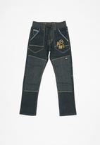 POP CANDY - Cuffed denim pannel knee - navy
