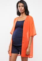 edit Maternity - Maternity kimono - orange
