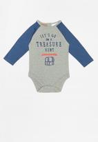 POP CANDY - Baby boys bodysuit - grey & blue
