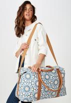 Typo - Buffalo overnighter bag - white &  blue